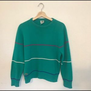 Vintage Lacoste Striped Sweater Sz M